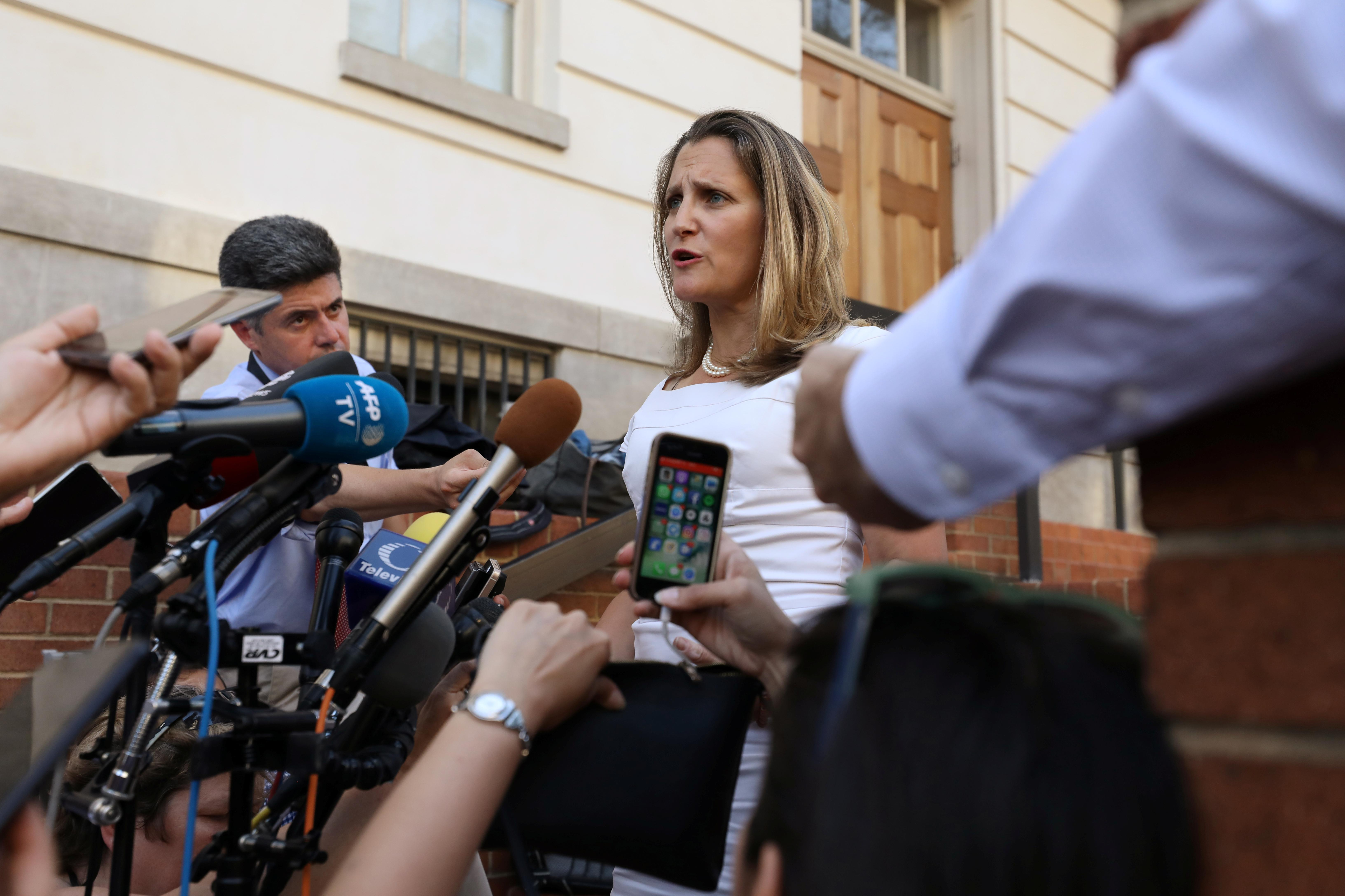 Canada's Freeland says 'win-win-win' trade deal with U.S. within reach