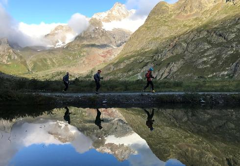 Ultra-marathon through the Alps