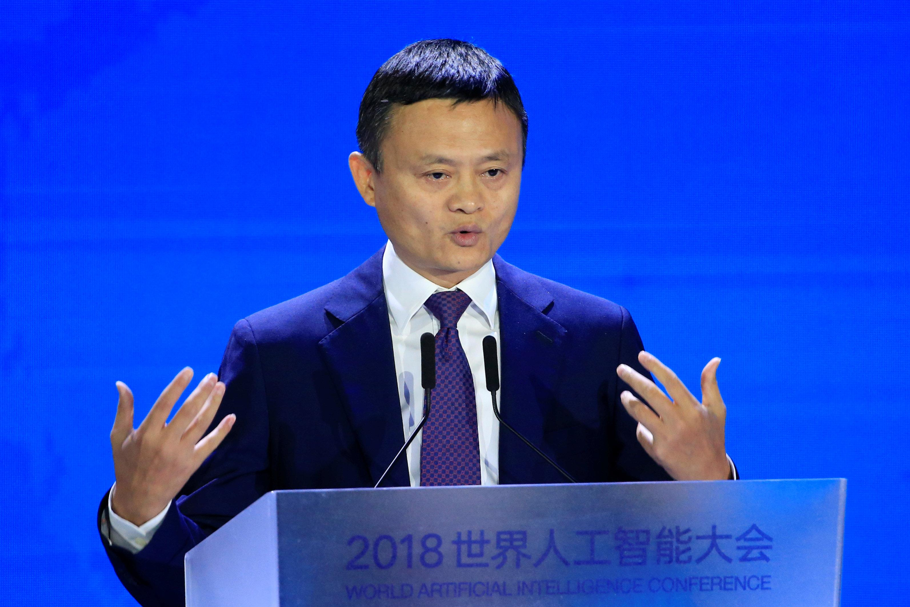 Alibaba Group co-founder and executive chairman Jack Ma attends the WAIC (World Artificial Intelligence Conference) in Shanghai, China, September 17, 2018. Aly Song