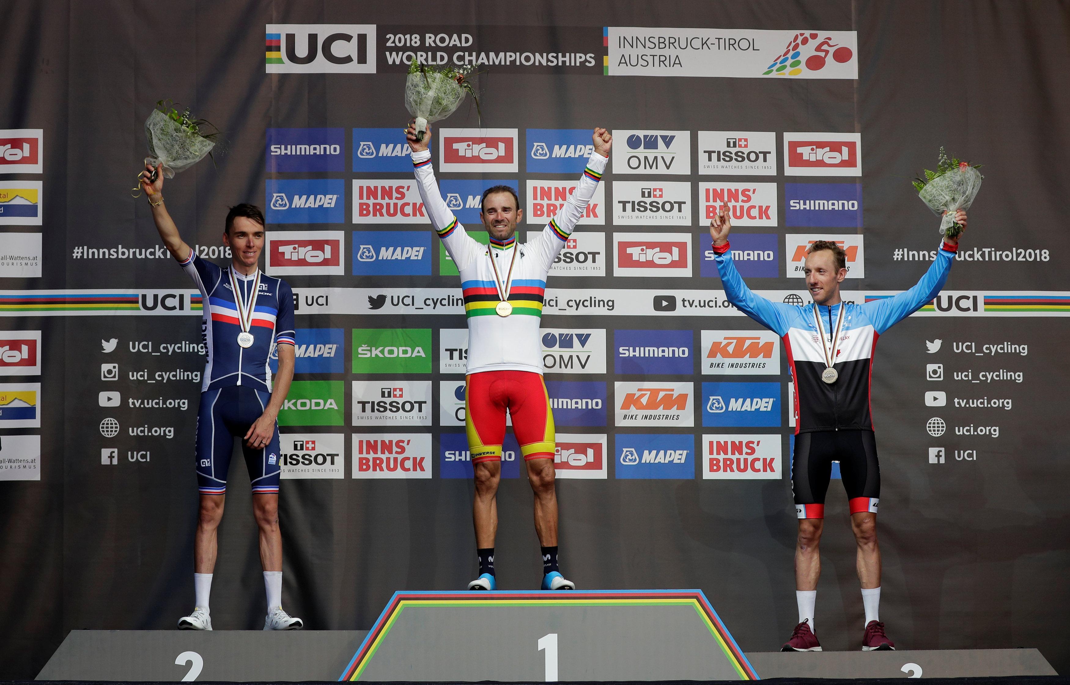 Cycling - Valverde wins men's World Championship road race