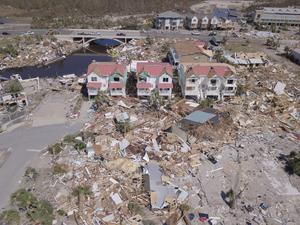 Hurricane Michael's devastation from above