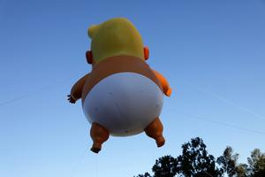 'Baby Trump' balloon flies over Los Angeles