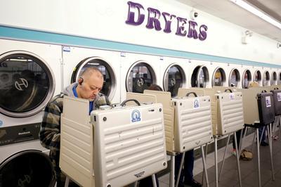 Strange polling places