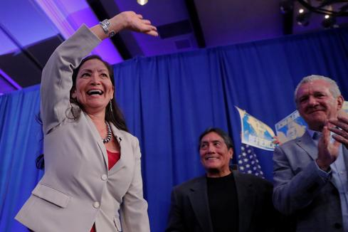 Native American Democrat Deb Haaland elected to Congress