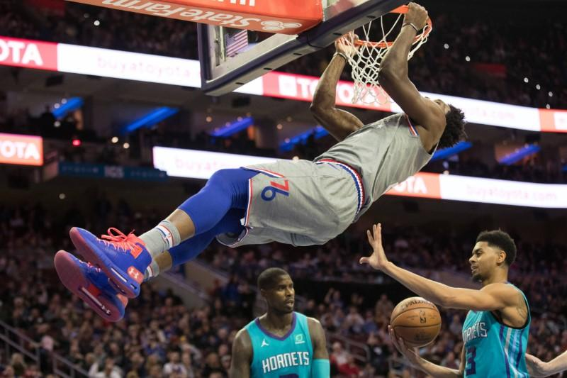 NBA Summary: Sixers' Embiid Score 42 Overtime Victories Over Hornets
