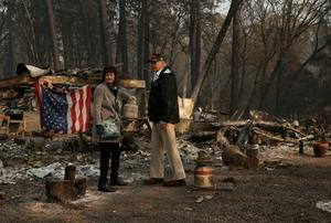 Trump visits charred ruins of Paradise