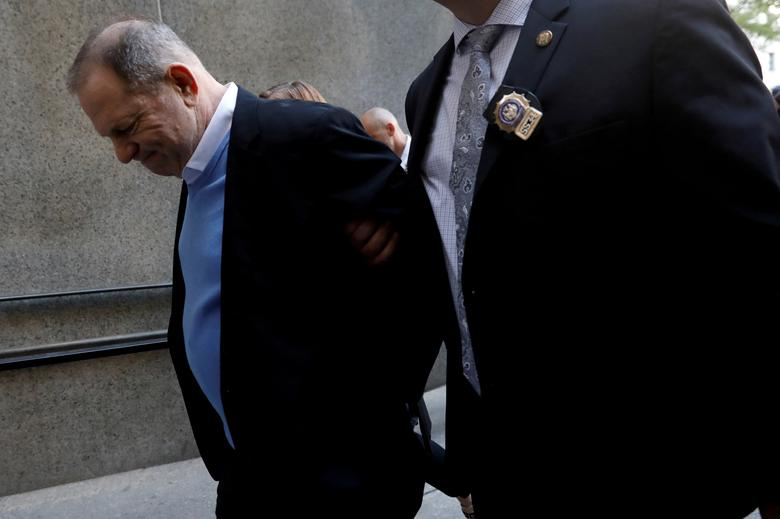 Film producer Harvey Weinstein arrives at Manhattan Criminal Court in New York, May 25.       REUTERS/Shannon Stapleton