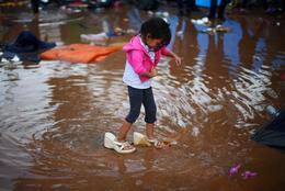 Torrential rains flood Tijuana migrant shelter
