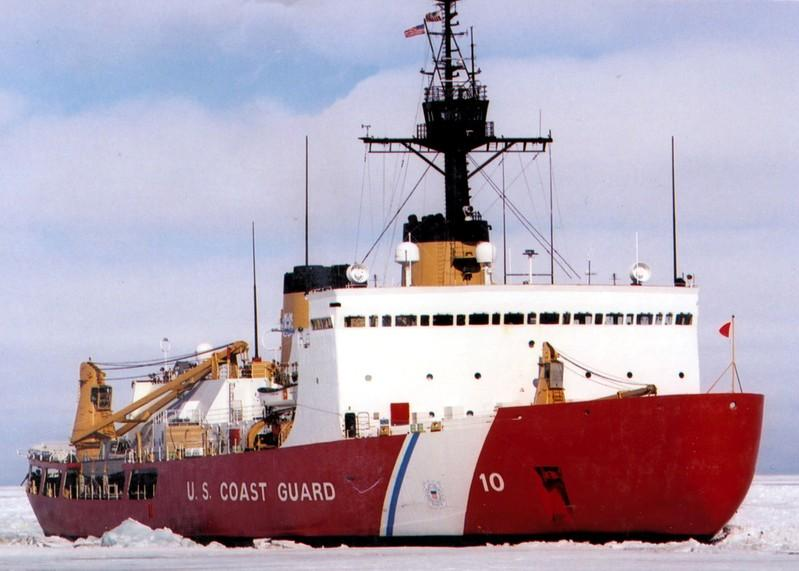 4561fd3beeb FILE PHOTO: Polar Star, the U.S. Coast Guard icebreaker, works the ice  channel near McMurdo, Antarctica in this handout photo taken January 10,  2002.