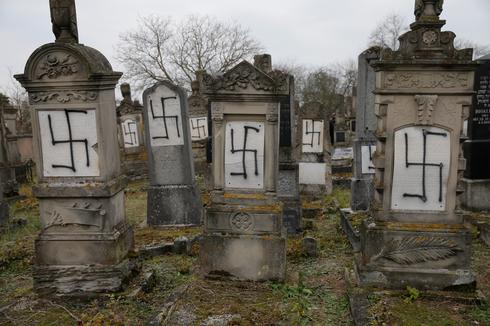 Jewish cemetery desecrated with swastikas in France