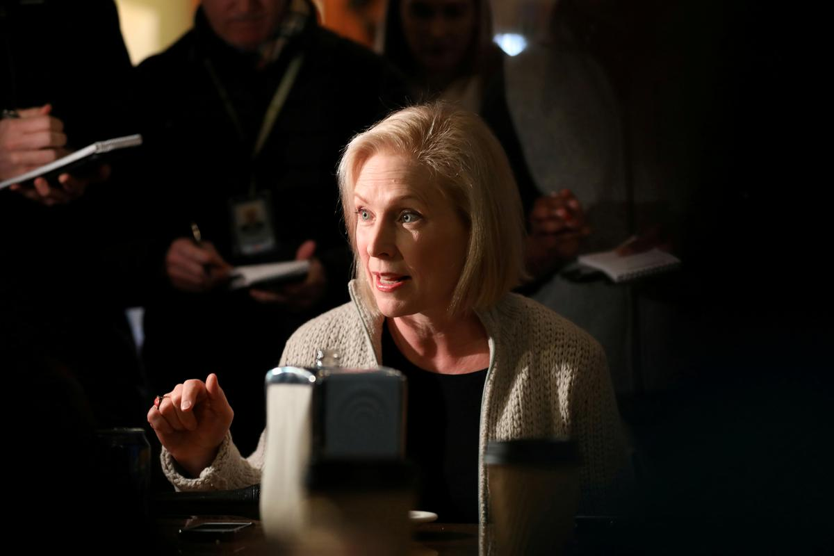 On road to 2020, New York's Gillibrand touts liberal cred in Iowa
