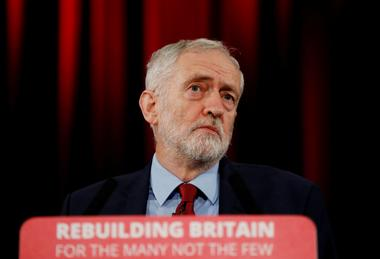 FILE PHOTO: Labour leader Jeremy Corbyn gives speech in Hastings