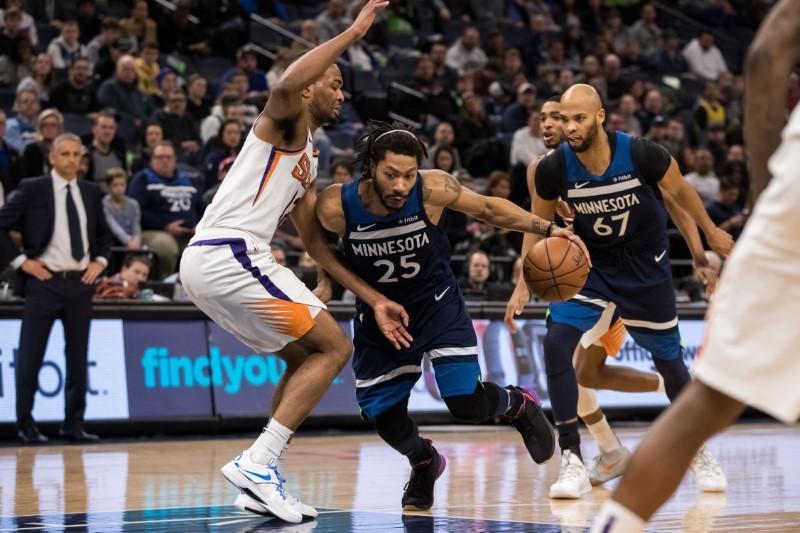 NBA roundup: Wolves' Rose beats buzzer to bury Suns
