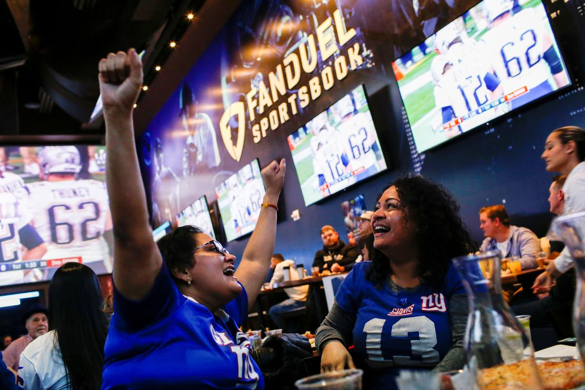 Smiles, grimaces in New Jersey with first-ever legal Super Bowl bets