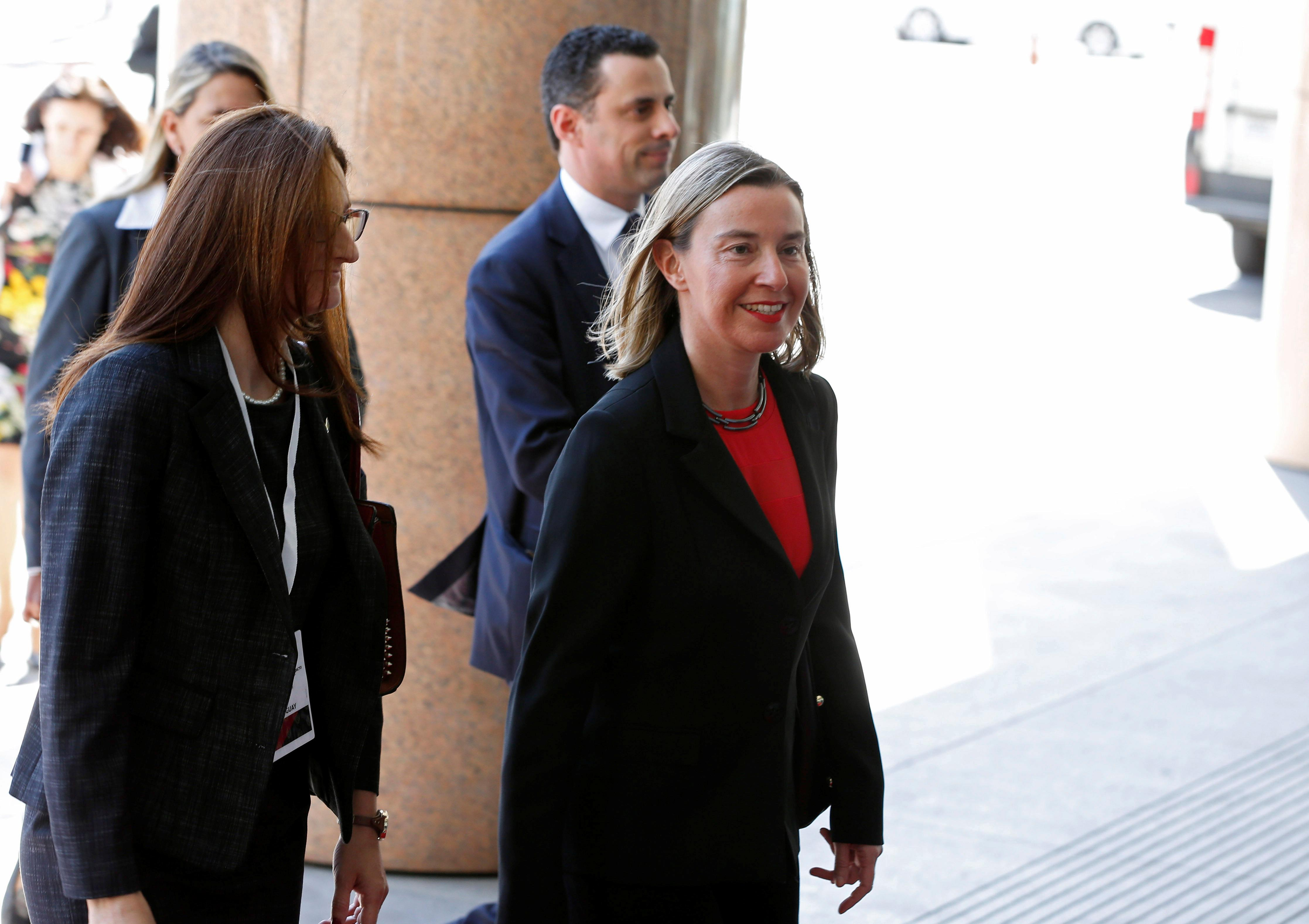 EU's Mogherini repeats call for peaceful solution in Venezuelan to avoid chaos