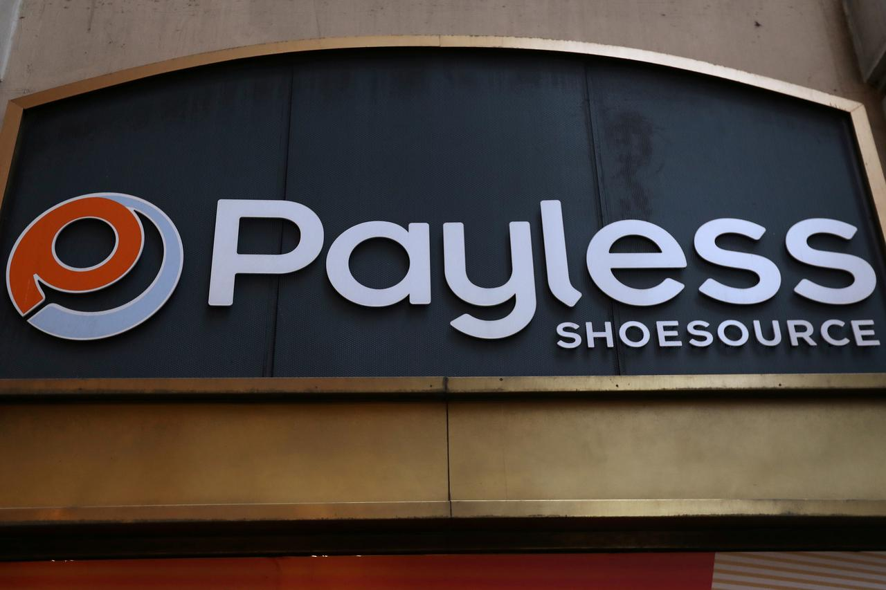 FILE PHOTO: A Payless ShoeSource store logo is pictured in the Manhattan borough of New York, New York, U.S. April 4, 2017. REUTERS/Carlo Allegri/File Photo