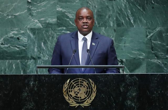 President of Botswana Mokgweetsi Eric Keabetswe Masisi addresses the 73rd session of the United Nations General Assembly at U.N. headquarters in New York, U.S., September 27, 2018. REUTERS/Carlo Allegri