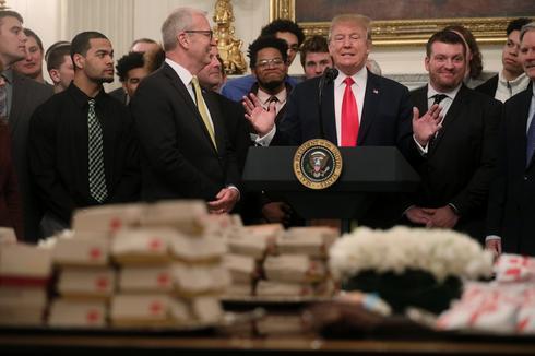 Trump serves fast food to football champs North Dakota State
