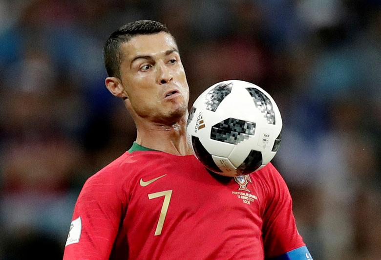 Portugal's Cristiano Ronaldo in action during a World Cup group stage match against Spain at Fisht Stadium in Sochi, Russia, June 15, 2018. REUTERS/Ueslei Marcelino
