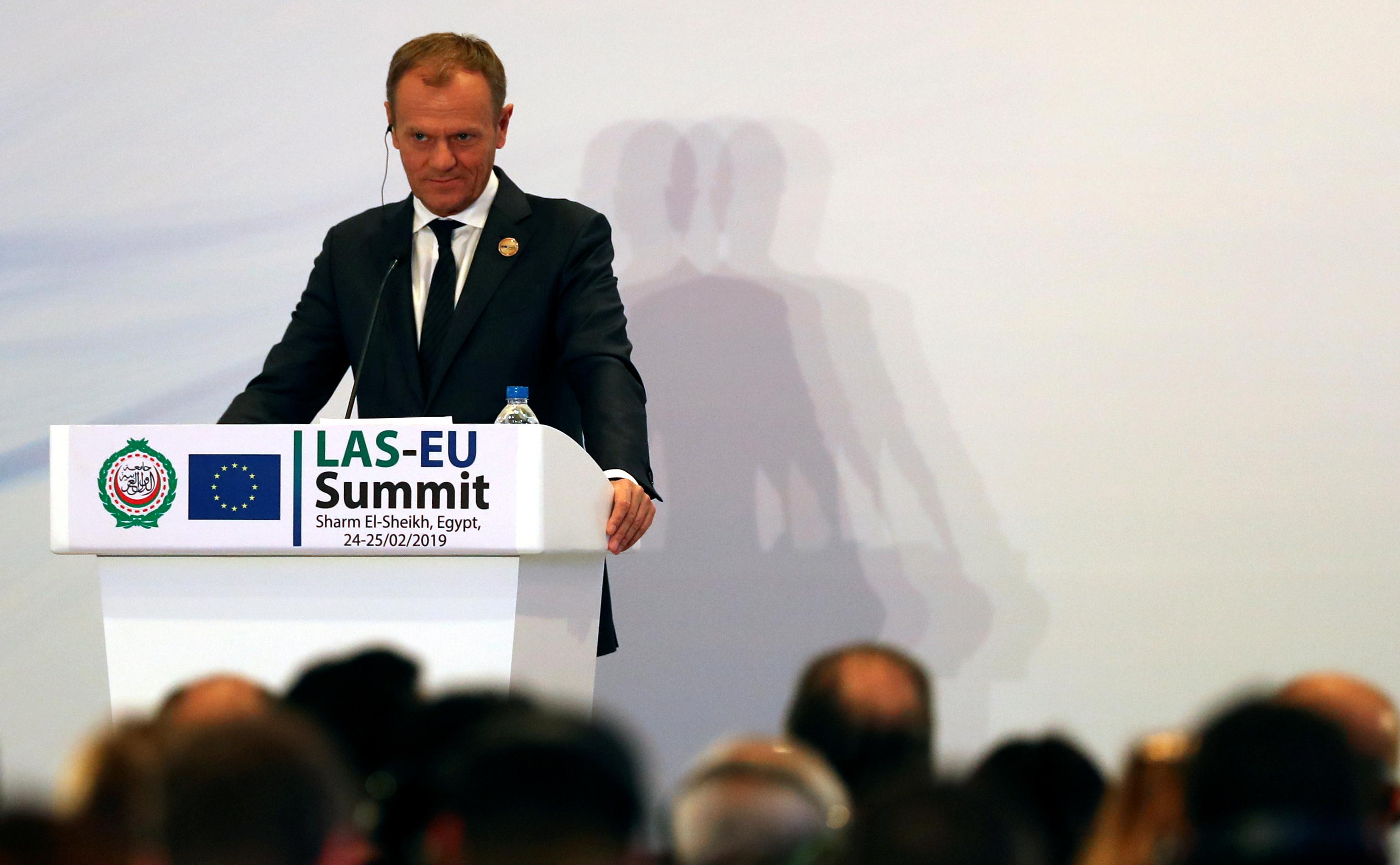 EU's Tusk floats long Brexit delay before summit
