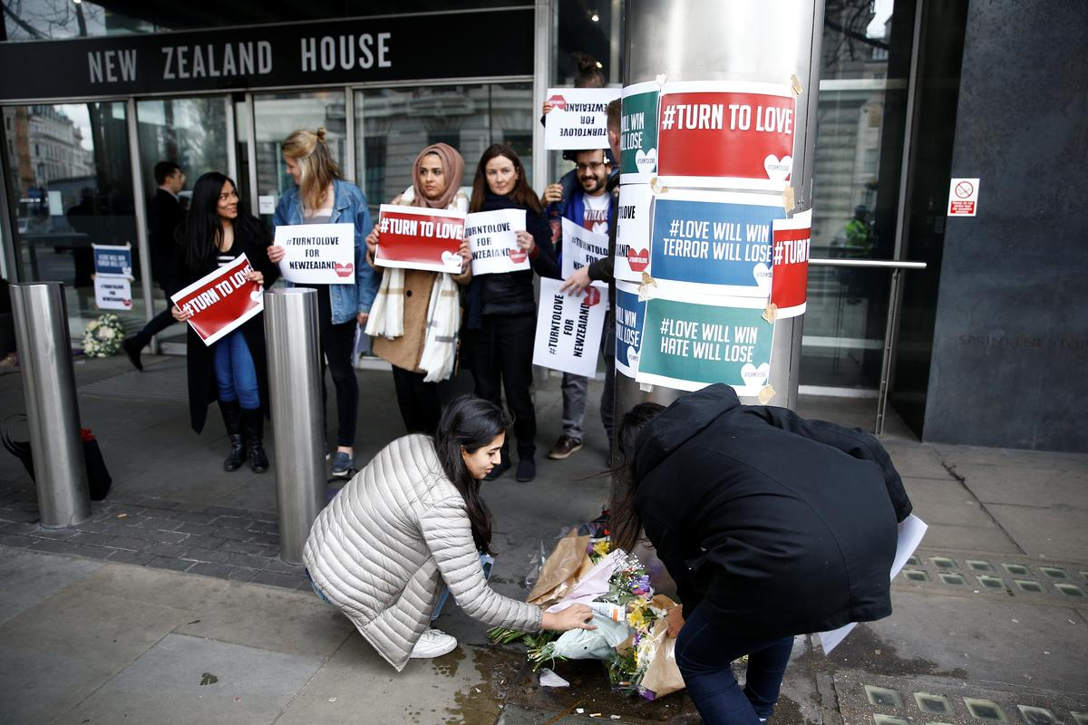 World reacts with sadness, anger to New Zealand mosque shootings