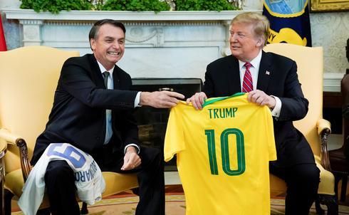 Brazil's Bolsonaro meets Trump