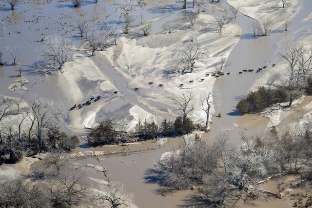 Amid U S  Midwest flooding, residents in Missouri, Kansas