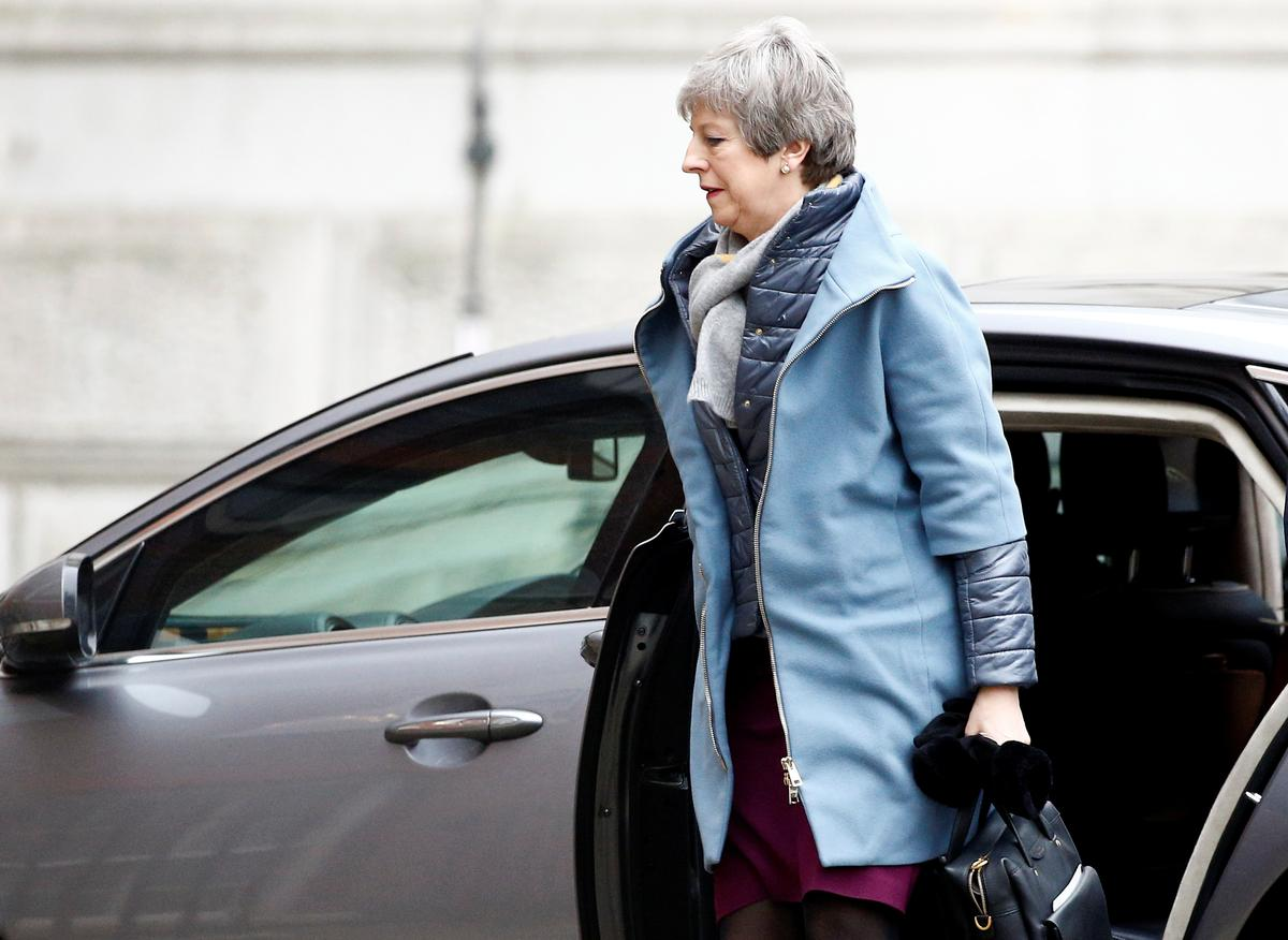 Image result for Returning to London, May faces mammoth task to change minds on Brexit