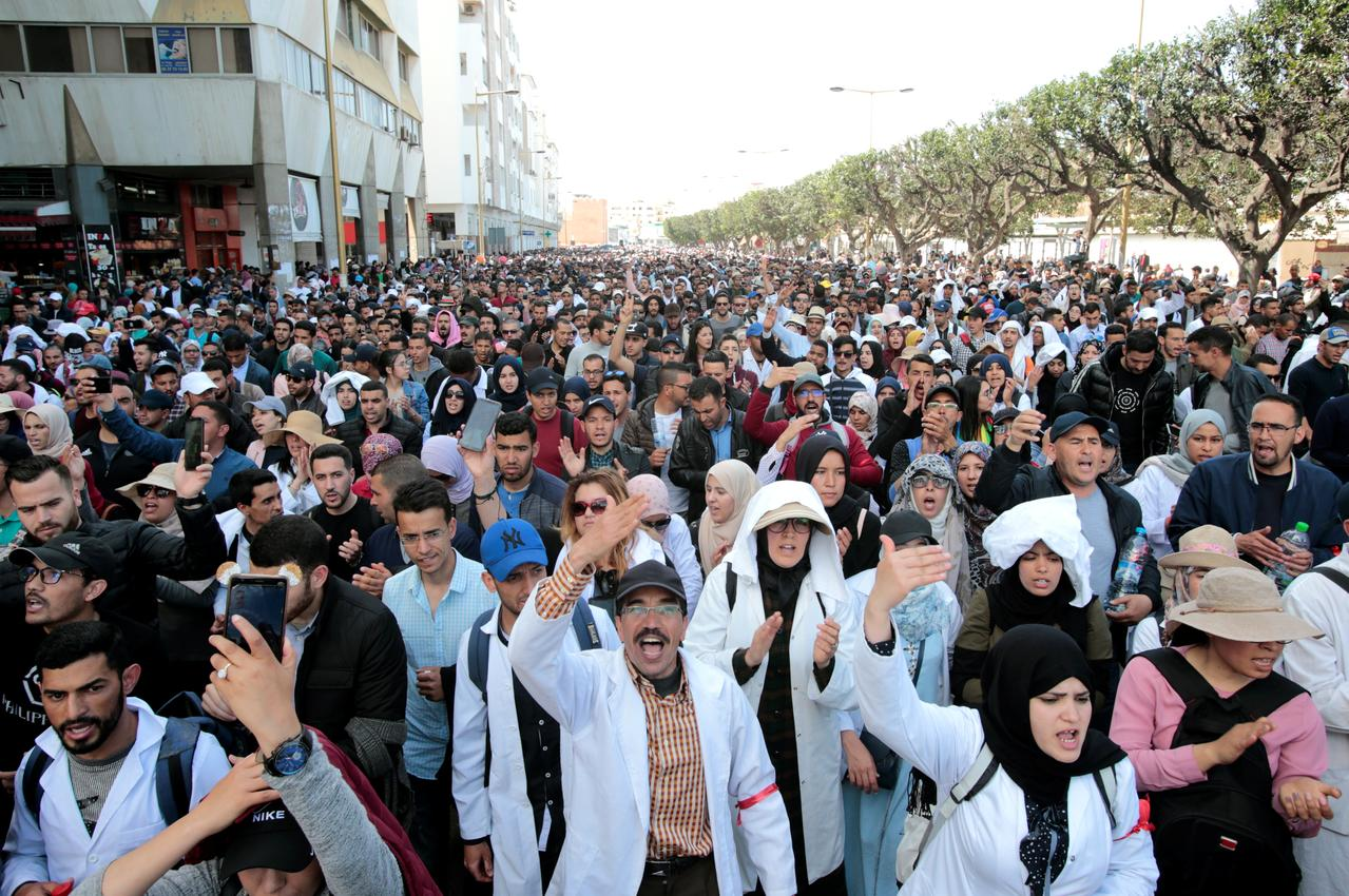 Image result for Thousands of Moroccan teachers stage protest over pay terms
