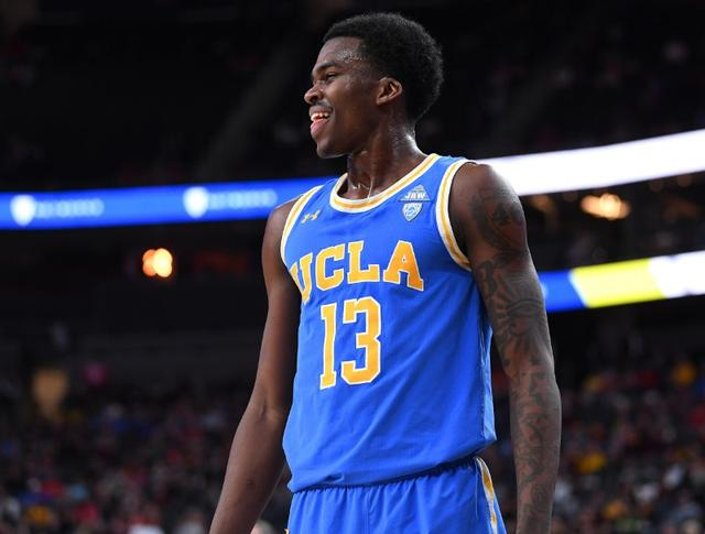 bf18c8b8e Mar 14, 2019; Las Vegas, NV, United States; UCLA Bruins guard Kris Wilkes ( 13) reacts to a call on the floor during the second half of a Pac-12  conference ...