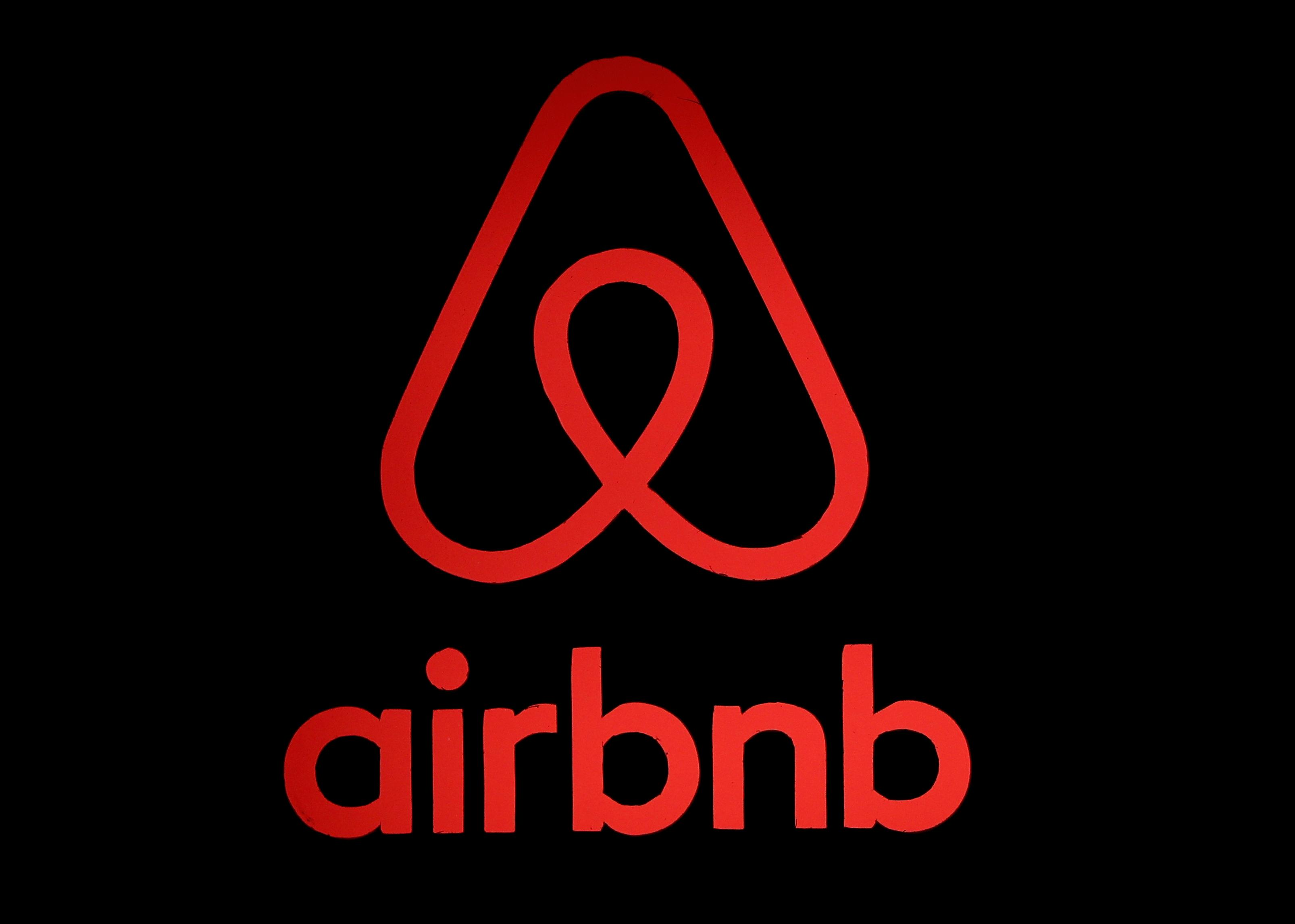 The logo of Airbnb is displayed at an Airbnb event in Tokyo, Japan, June 14, 2018. Issei Kato