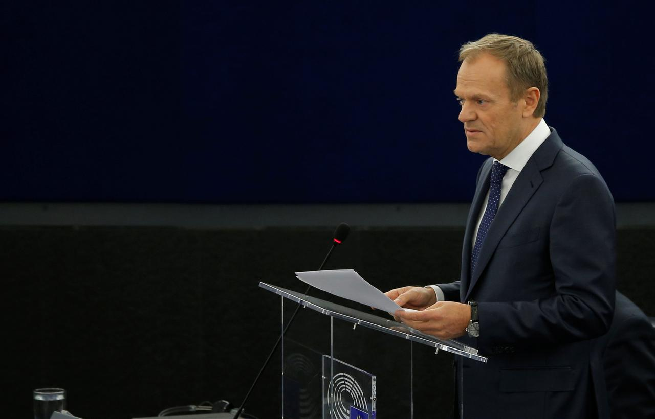 EU's Tusk considering 'flexible' Brexit extension up to one