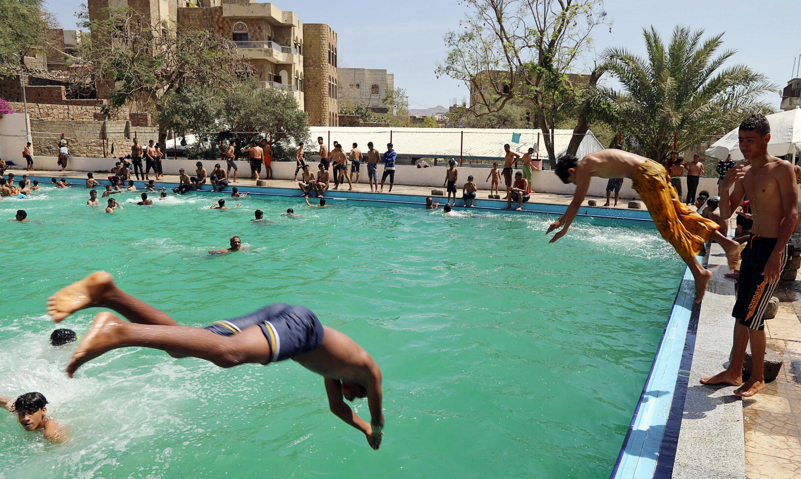 flipboard sole swimming pool in yemen 39 s third city struggles to remain open