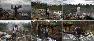 Venezuelan scavengers vie with vultures at Brazil landfill