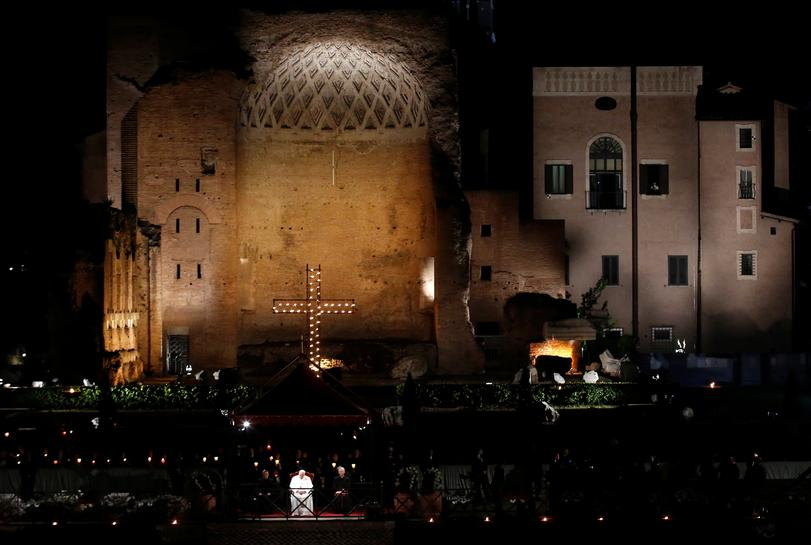 reuters.com - Philip Pullella - On Good Friday, pope hears harrowing stories of human trafficking
