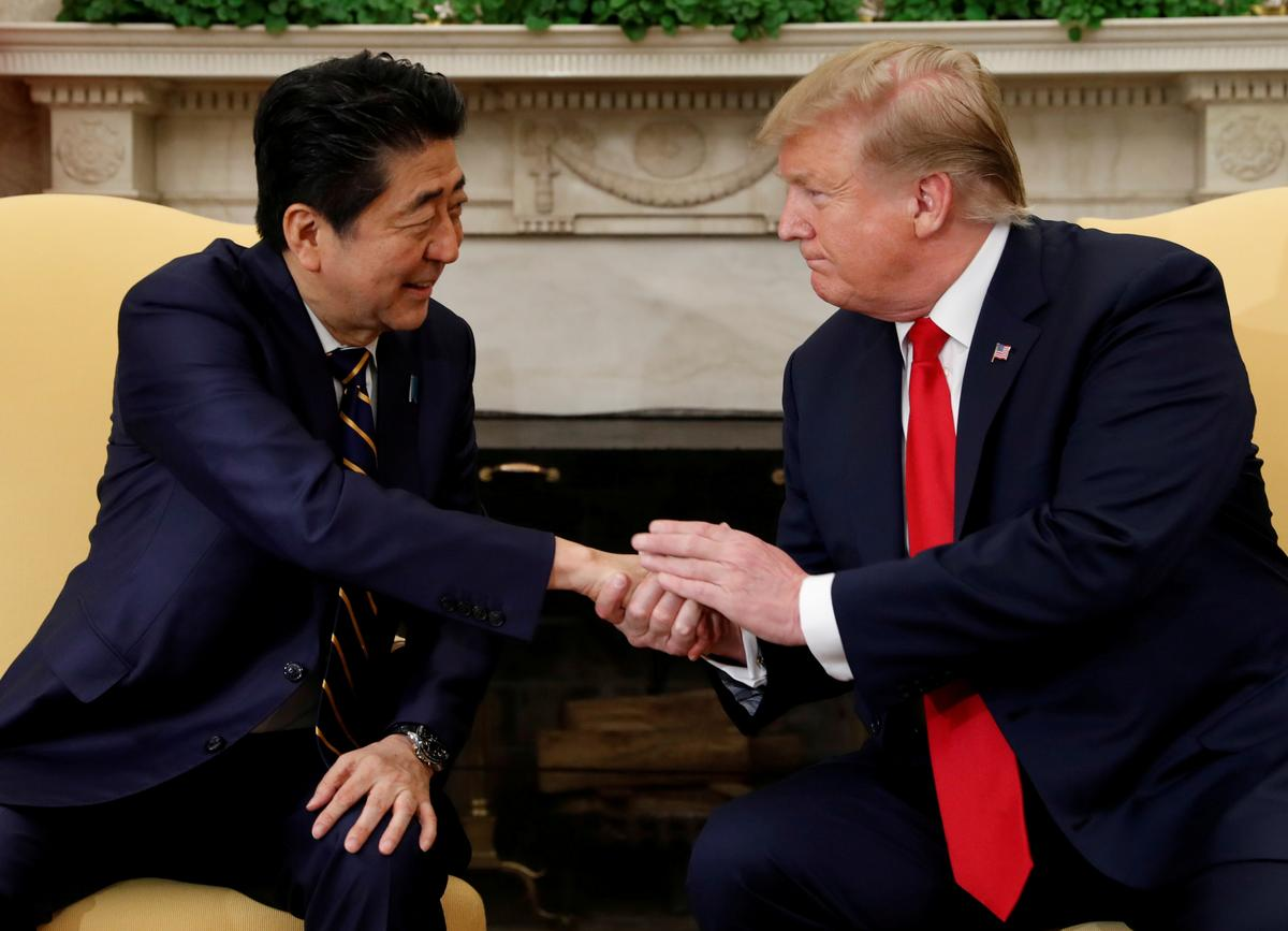 Japan's Abe and Trump to discuss North Korea on Monday: NHK