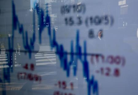 Asian shares fall to three-and-a-half month low as trade war escalates