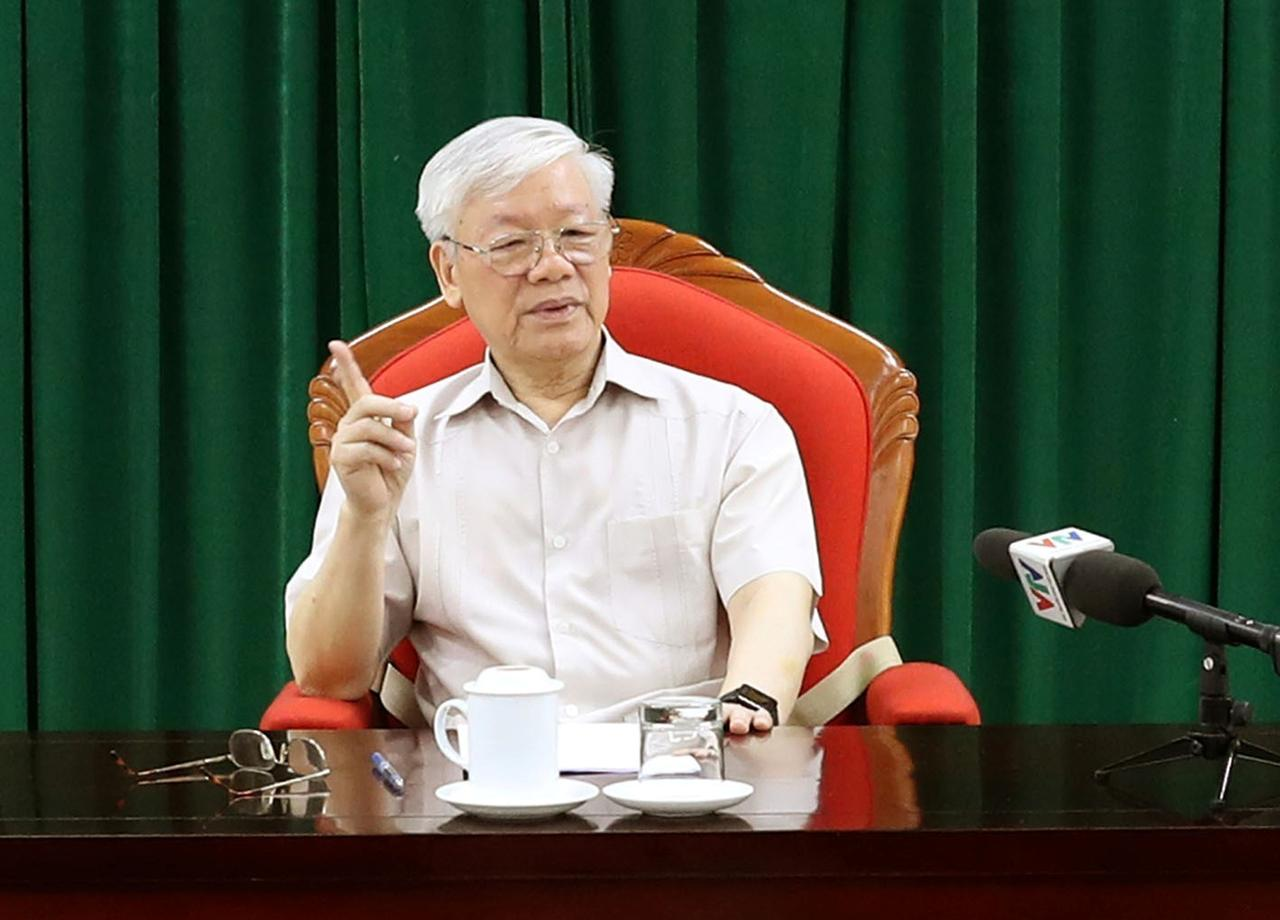 Image result for vietnam leader nguyen phu trong reappears in state media after illness