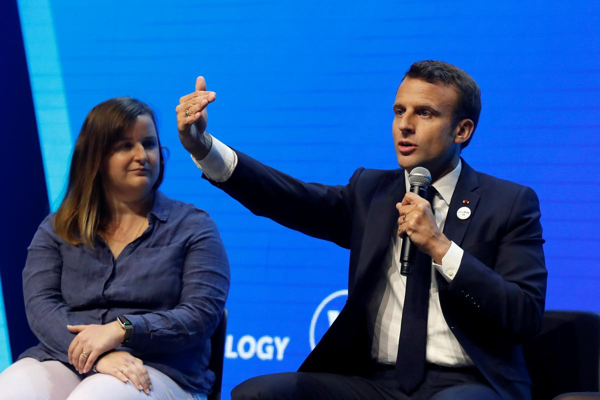 Macron Takes Aim at U.S. In Push for Fairer Tech Industry