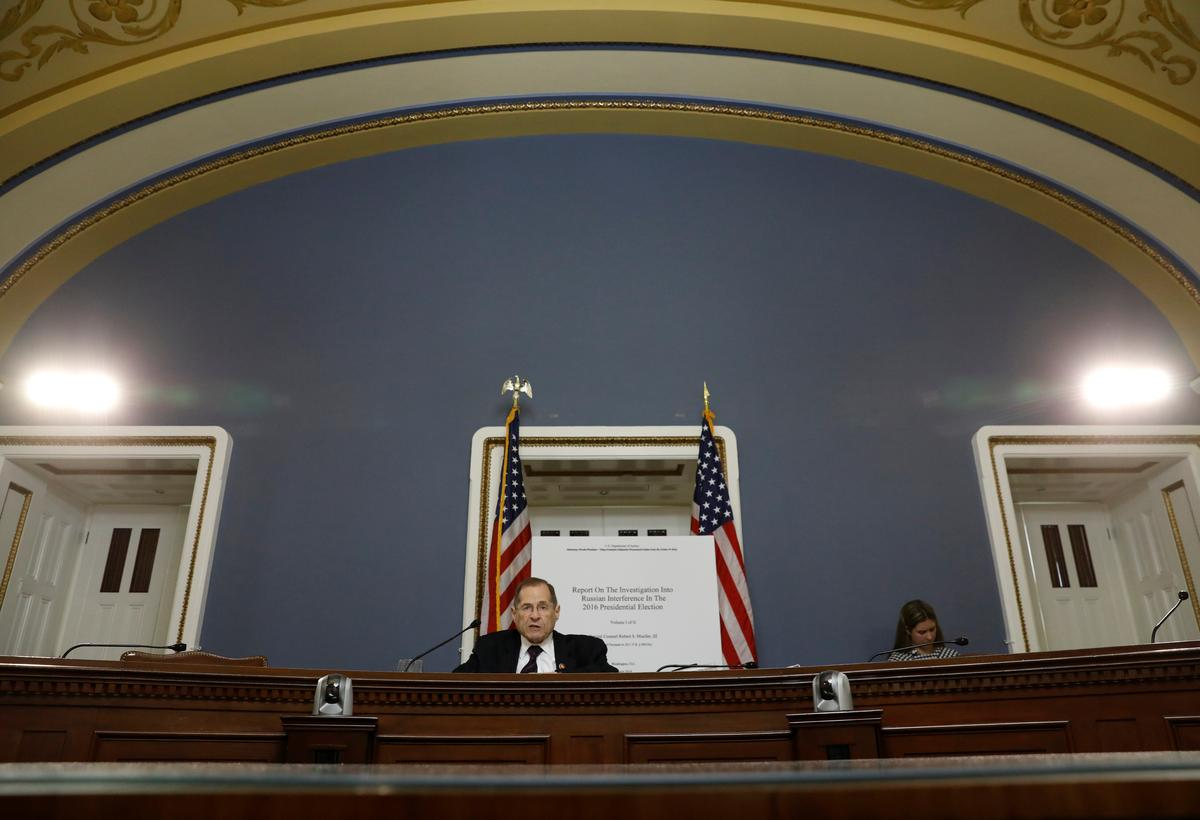 Democrats read Mueller report aloud in U.S. Capitol hearing room