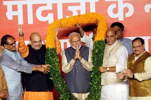 Modi wins historic election victory