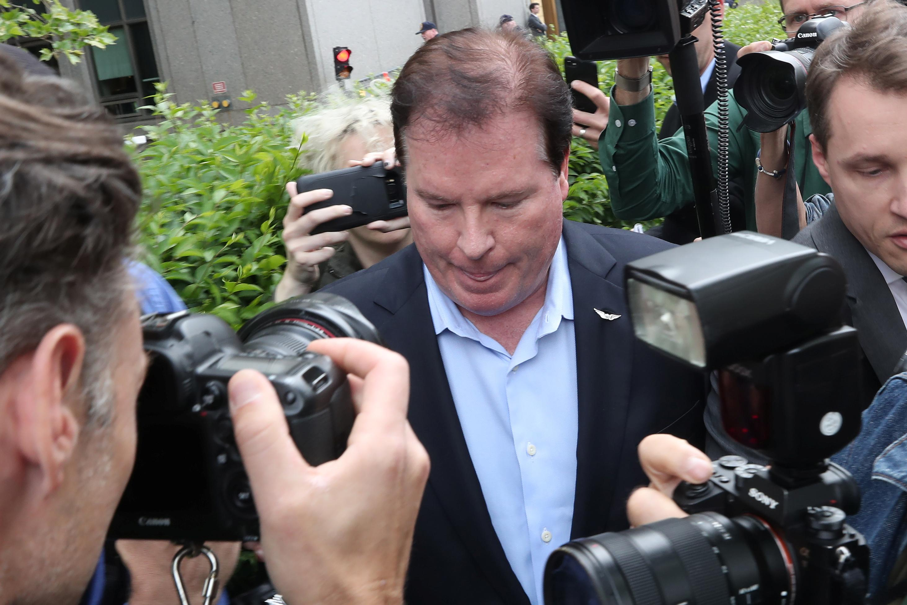 Stephen Calk, CEO of The Federal Bank of Chicago, leaves Manhattan Federal Court in New York, U.S., May 23, 2019. Shannon Stapleton