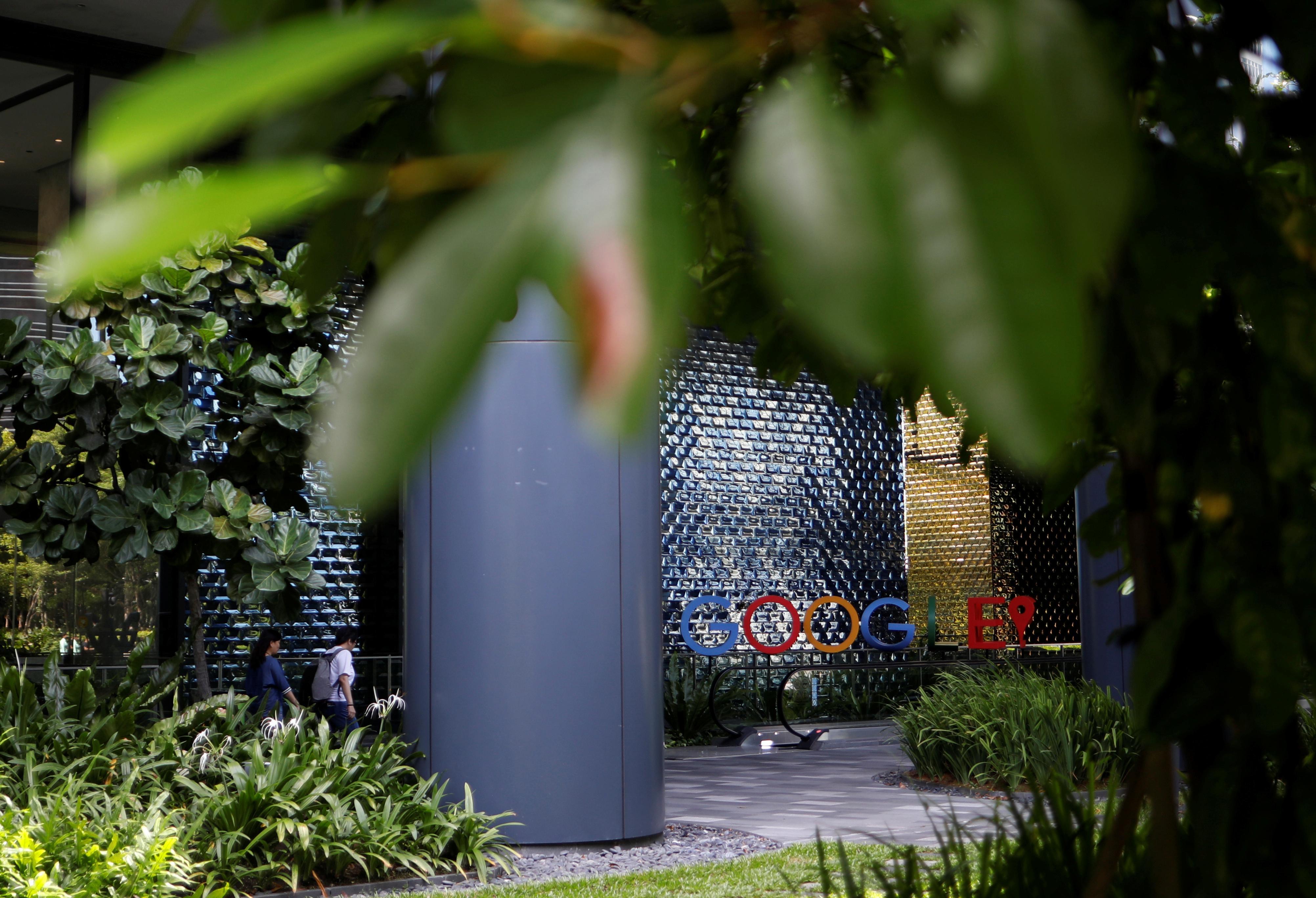 A view shows the Google office in Singapore May 24, 2019. Edgar Su