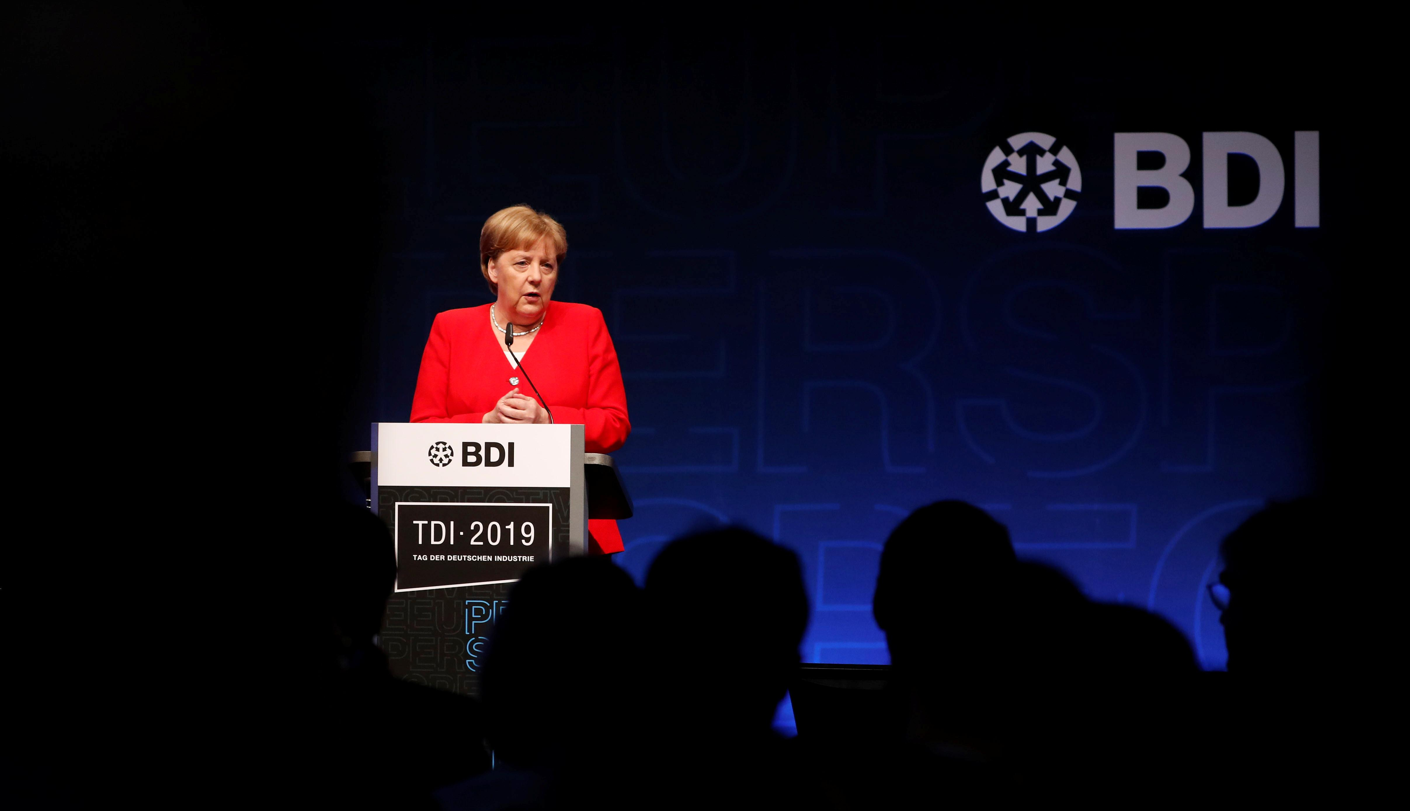 Merkel says international corporate tax situation unfavorable for Germany