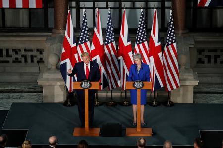 "Effusive Trump promises Britain a ""phenomenal"" post-Brexit trade deal"