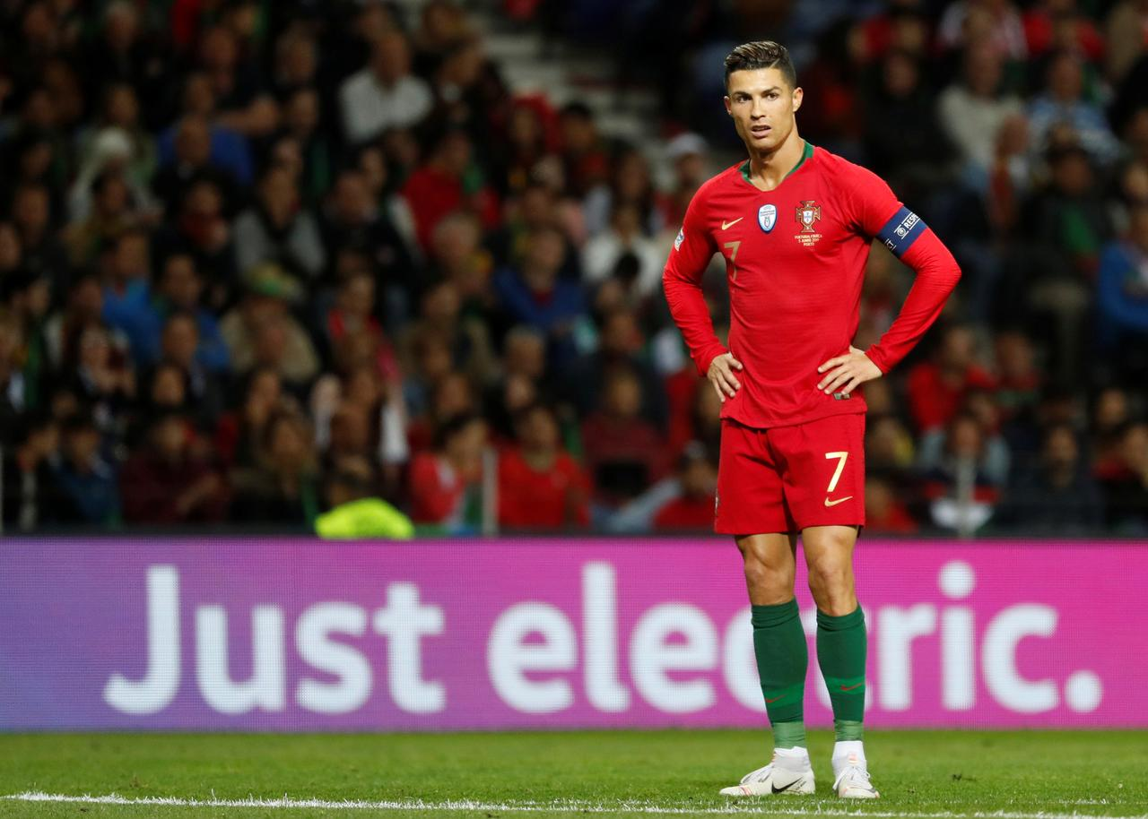 Image result for Cristiano Ronaldo scored a superb hat-trick as Portugal reached the Nations League final with victory over Switzerland at the Estadio do Dragao.