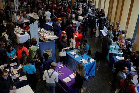 U.S. job openings slip; hiring hits all-time high