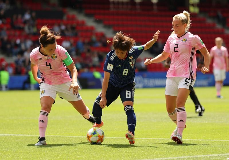 Japan back on track with 2-1 win over Scotland