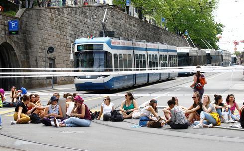 Swiss women strike for equality