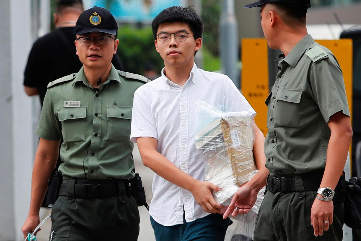 Hong Kong democracy activist freed from jail, vows to join mass protests
